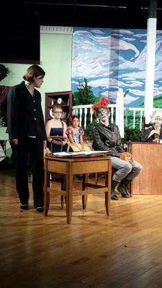 This is a picture from WOOLFIE by Sybil St. Claire as produced by the Fly Community Theater.