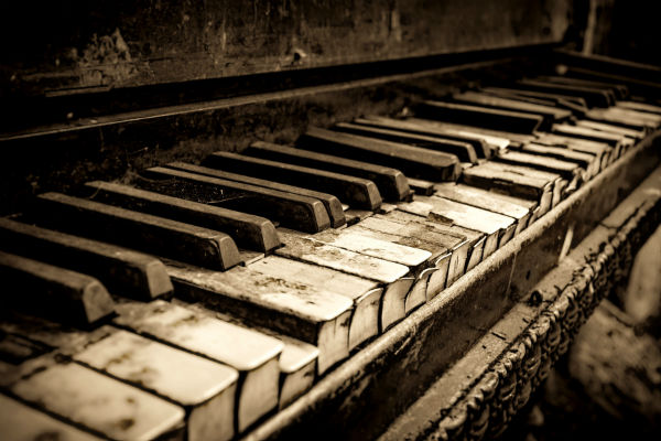 This is an image of a very old piano.