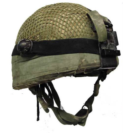 This is an image of a modern soldier's helmet.